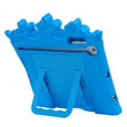 35040 Cute Standing Crown Style EVA Back Case for Ipad MINI - Blue