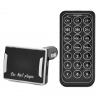 "CQ-004 1.5"" LED Screen TF / SD / USB Flash Drive MP3 w/ FM + IR Remote Control for Car - Black (32G)"