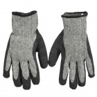 Galilee PNCG100139 Protective Latex Cutting-Resistant Industrial Labor Gloves - Black + Grey