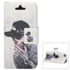Tobacco Smoking Style Protective PU Leather + TPU Case for iPhone 5