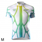 Spakct CSY299-2B Cycling Short Sleeve Jersey for Men - Green + White (Size M)
