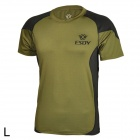 ESDY ESDY-8866 Outdoor Men's Quick Drying Short T-Shirt - Army Green + Black (Size L)