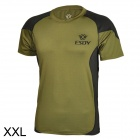 ESDY ESDY-8866 Outdoor Men's Quick Drying Short T-Shirt - Army Green + Black (Size XXL)