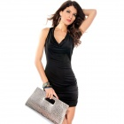 Modieuze Exquisite Hollow uit Dress for Woman - Zwart (Free Size)