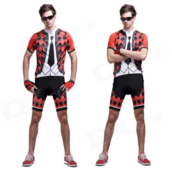 Men/'s Suit and Tie Short Sleeve Cycling Jersey