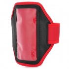 Protective PVC + Neoprene Armband for Sony Xperia ZR M36h / C5502 / HTC One Mini - Black + Red