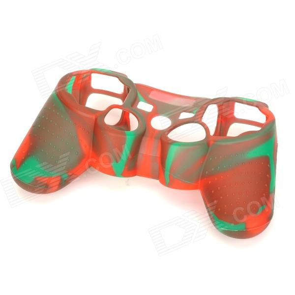 Stylish Protective Colorful Silicone Case for PS3 Controller - Green + Red projectdesign protective hard carrying pouch case for wii nunchuck controller red