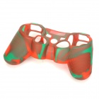 Stylish Protective Colorful Silicone Case for PS3 Controller - Green + Red