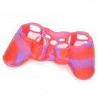 Stylish Colorful Protective Silicone Case for PS3 Controller - Red + Purple