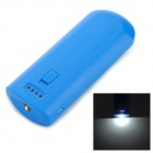 Portable 3.7V 5200mAh Li-ion Battery Power Bank w/ LED + Batteries for iPhone 5 + More - Blue