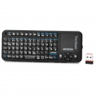 iPazzport KP-810-10BTT Bluetooth v2.0 2.4GHz Wireless 82-Key German Keyboard - Black