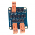 60W High Power Two-Channel DC Motor Driver Board Module - Blue + Black + Orange (DC 6 / 12 / 24V)