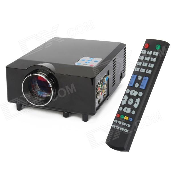 HD-168 60W 1500lm Multimedia LED Projector w/ Remote Controller - Black