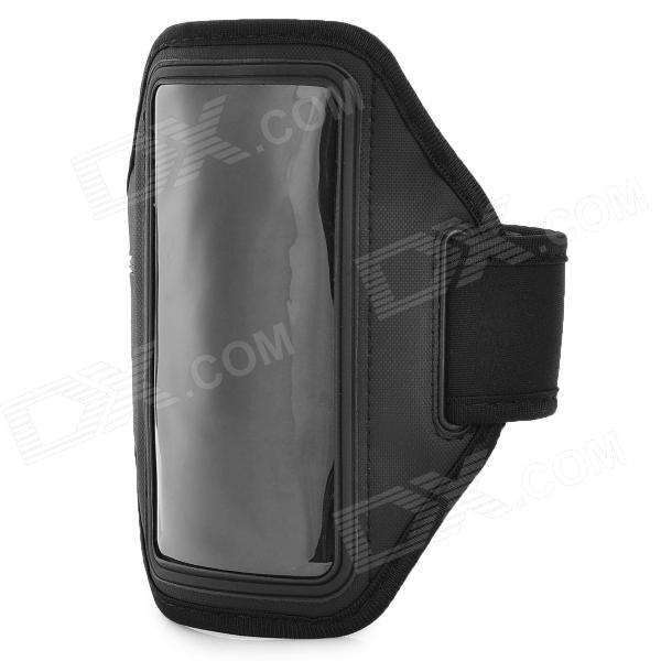 Universal Protective PVC + Neoprene Armband for Sony Xperia ZR M36h / C5502 / HTC One Mini - Black complete on the go smart kit comfy sport band workout armband adjustable neoprene velcro strap for sony ericsson spiro xperia neo v xperia play xperia ray x8 x10 x10 mini pro vivaz text pro mix walkman xperia play includes a retrac