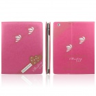 Enkay Double Heart Pattern Protective PU-Leder Smart Fall für Ipad 2/4 / dem neuen iPad - Pink