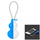 SJ14-IP5 Gourd Style USB to 8-Pin Lightning Data / Charging Cable - White + Blue