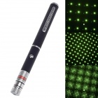 F520 5mW 532nm Starry Sky Green Laser Pointer - Schwarz + Silber (2 x AAA)