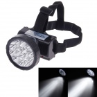 KangMing KM-169 Rechargeable 1.2W 100lm 15-LED White Light 2-Mode Headlamp - Black