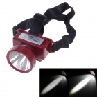 KangMing KM-165 Rechargeable High Power 0.6W 60lm LED 2-Mode White Light Headlamp - Wine Red