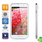 "POMP W88 Quad-Core Android 4.2 WCDMA Bar Phone w/ 5.0"" HD IPS, Wi-Fi and GPS - White"