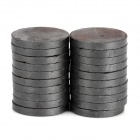 22 x 2.7mm Round Ferrite Magnet - Black (20 PCS)
