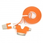 USB 2.0 Male to 30-Pin / Lightning 8-Pin / Micro USB Male Charging Data Cable for iPhone 5 - Orange