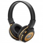 "N85 1.4"" LCD Hi-Fi Bass MP3 Player Headphones w/ FM / SD - Black + Earthy"
