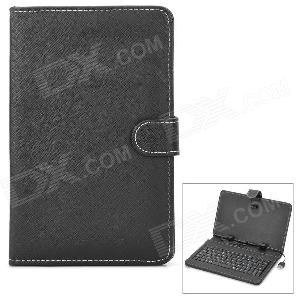 "X1 Universal USB 2.0 Interface Wired 80-key Keyboard Case w/ Stand for 7"" Android Tablet PC - Black"