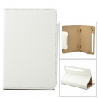 "Stylish Universal Litchi Pattern Flip-open PU Leather Case w/ Holder for 7"" Tablet PC - White"
