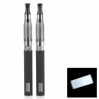 "LCD-02 0.6"" LCD Rechargeable 650mAh Electronic Cigarettes w/ CE5 Atomizers Set - Black (2 PCS)"