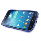 ENKAY Protective Soft TPU Back Case w/ Stand for Samsung Galaxy S4 Mini / i9190 - Blue