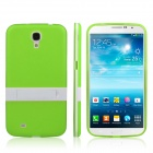 ENKAY Protective TPU Back Case w / Stand for Samsung Galaxy Mega 6.3 i9200 / i9208 - Green