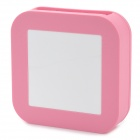 Protective Silicone Back Case for Apple TV / AirPort Express - Pink + White