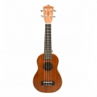 54CM White-edge Wooden Ukulele - Brown