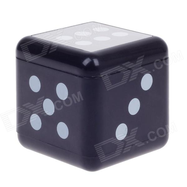 Plastic Dice Style Rotary Top Ashtray - Silver + Black + White ashtray