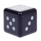 Plastic Dice Style Rotary Top Ashtray - Silver + Black + White