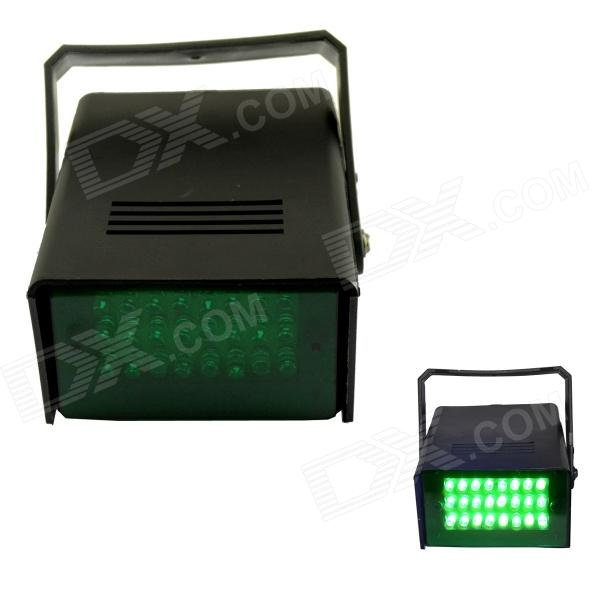 XL-16G 5W 530nm 24-LED Green Light Flash Party Disco Mini Strobe Stage Light - Black (US Plug) 24 16 g 1119