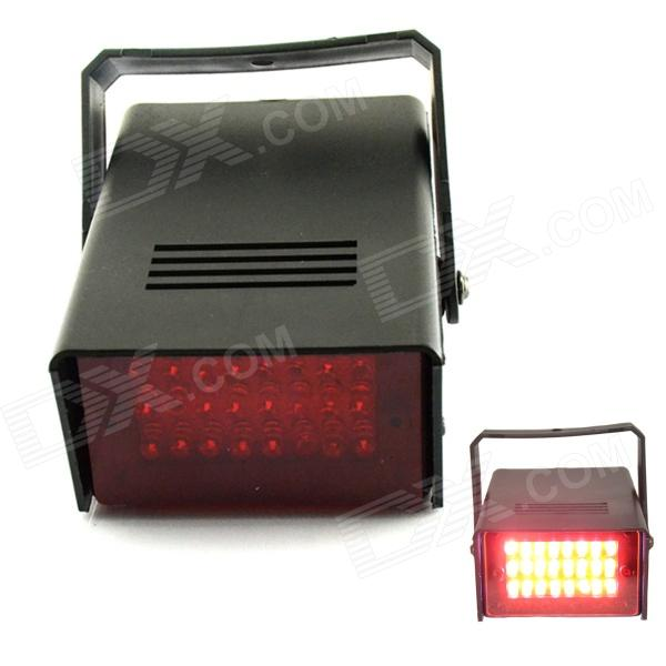 XL-16R 5W 650nm 24-LED Red Light Flash Party Disco Mini Strobe stage Light - Black xl 16r 5w 650nm 24 led red light flash party disco mini strobe stage light black