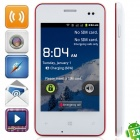 """MP 620 Android 2.3.5 GSM Bar Phone w / 3,5 """"kapazitiver Schirm, FM, Quad-Band-und Wi-Fi - weiß + rot"""