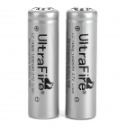 UltraFire Rechargeable 14500 1200mAh 3.7V Li-ion Battery for Flashlight - Silver (2 PCS)