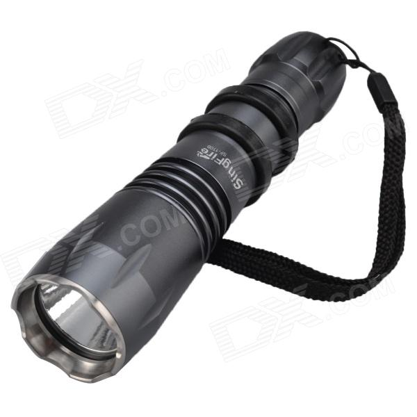 SingFire SF-110B 550lm 5-Mode Flashlight w/ CREE XM-L T6, Battery Charger - Dark Grey (1 x 18650) singfire sf 611c 600lm zoomable big lamp rechargeable headlight w cree xm l t6 charger battery
