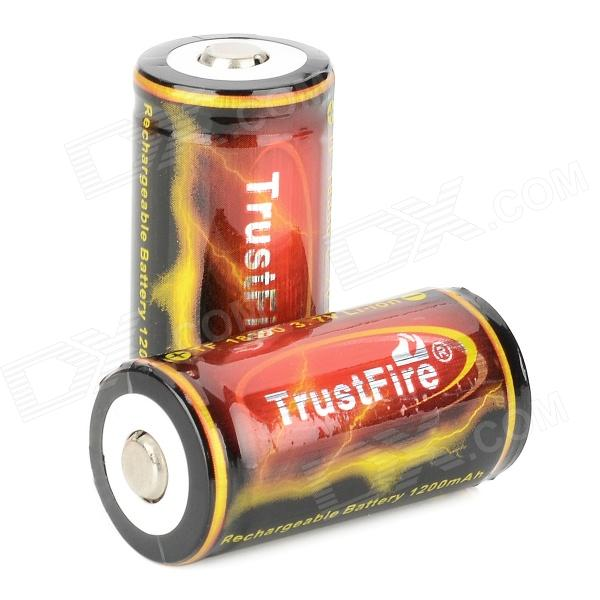 TrustFire TF 18350 1200mAh 3.7V Li-ion Battery for Flashlight - Black + Red + Golden (2 PCS) 2 3 4 5pcs icr 3 7v 16500 17500 rechargeable lithium ion battery li ion cell 1200mah for led flashlight torch and speaker