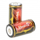 TrustFire TF 18350 1200mAh  3.7V  Li-ion Battery for Flashlight - Black + Red + Golden (2 PCS)