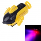 U-16 Rechargeable 2-Channel Radio Control R/C Submarine Toy - Yellow + Black