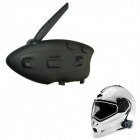 BT-12082 Racing / Motorcycle / Bicycle / Ski Helmet 500m Intercom Interphone - Black
