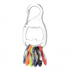 Niteize KRB-03-11 Multifunctional Steel Bottle Opener Keychain w/ Hanging Buckle - Multicolored