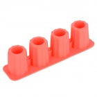 L.H.S TM13027 Silicone Ice Cubes Trays Shot Glass Maker Molde DIY - Vermelho