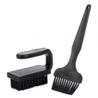 Handheld Antistatic Brush Set for Digital Device - Black (2 PCS)