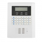 606K1 Wireless And Wired Home GSM Quad-Band Alarm System w/ LCD Display - White
