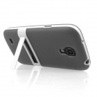 ENKAY Protective Soft TPU Back Case w/ Stand for Samsung Galaxy S4 Mini / i9190 - Grey